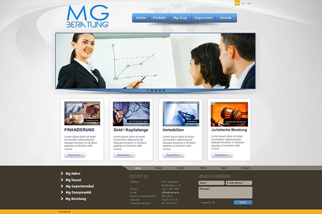 MG Websitesi Tasarımı