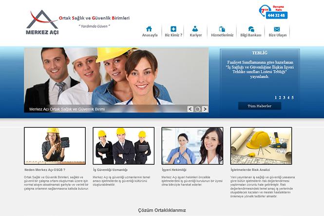 Merkez Açı Web Sitesi Tasarımı